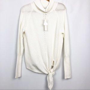 NWT Lauren Conrad Tie Up Cowl Neck Sweater